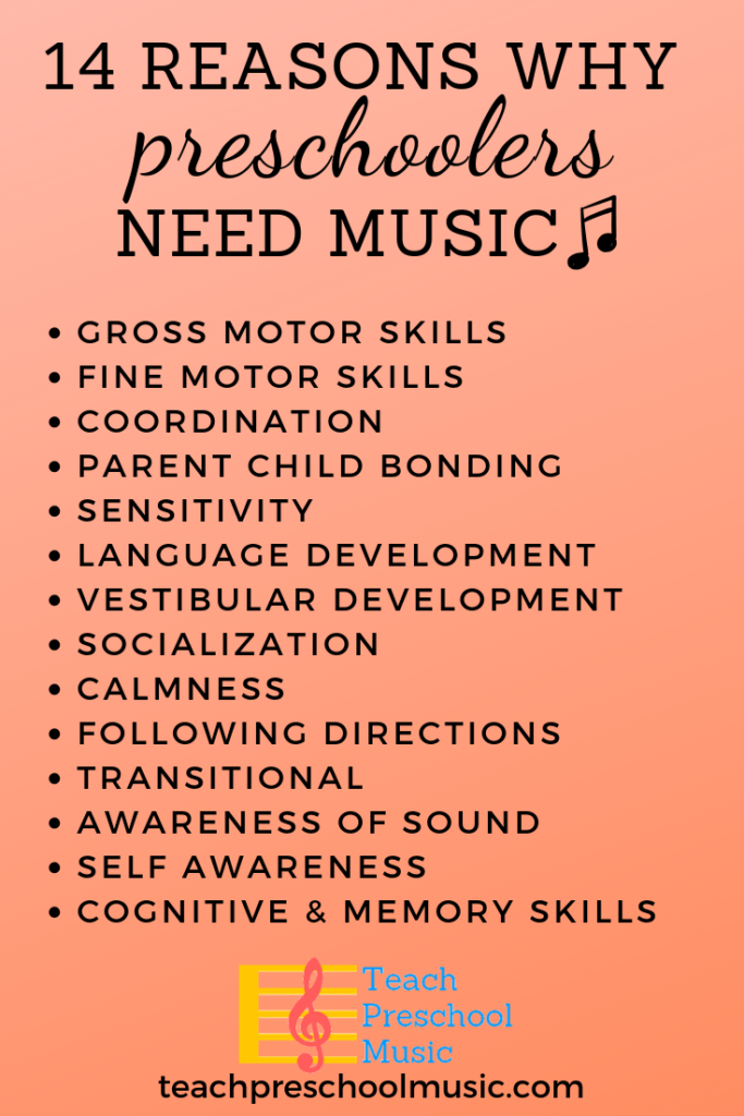 Reasons why preschoolers need music pin